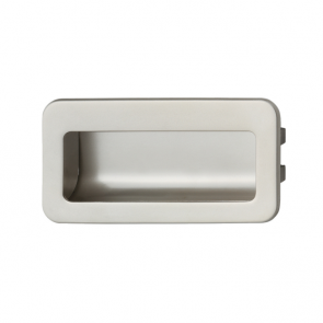 Recessed Drawer Pull Handle Satin Nickel 110mm