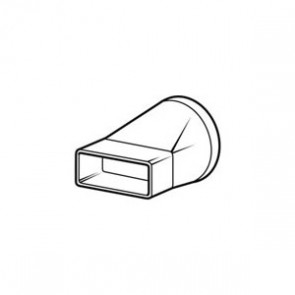 Domus Adapter 125mm round to 204mm x 60mm