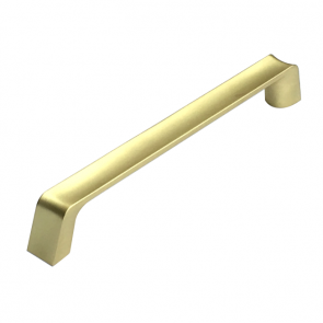 Scoop Handle Brushed Brass 160mm