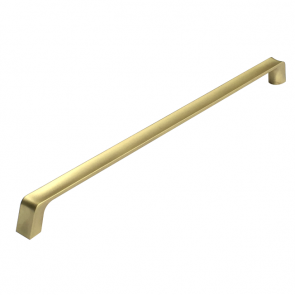 Scoop Handle Brushed Brass 320mm