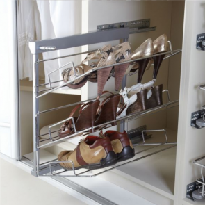 Pull-Out Shoe Rack 3 Tier Left Hand