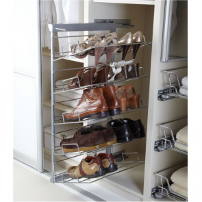 Pull-Out Shoe Rack 5 Tier Left Hand