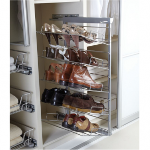 Pull-Out Shoe Rack 5 Tier Right Hand