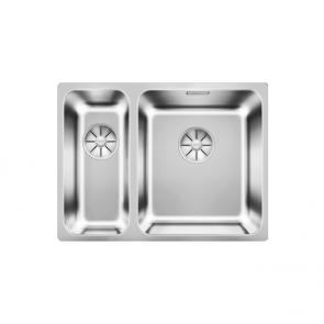 Blanco Solis 340/180-U sink & InFino waste kit large bowl right
