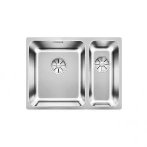 Blanco Solis 340/180-U sink & InFino waste kit large bowl left