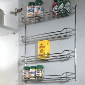 Chrome Spice Rack 500mm