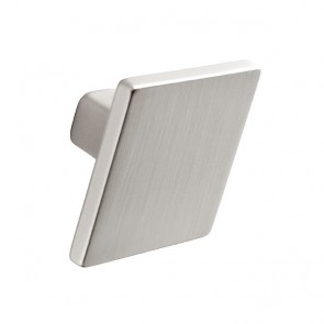 Square Knob Stainless Steel Finish 35mm