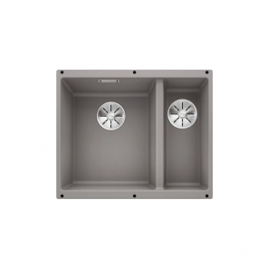 Blanco Subline 340/160-U sink left hand large bowl alumetallic