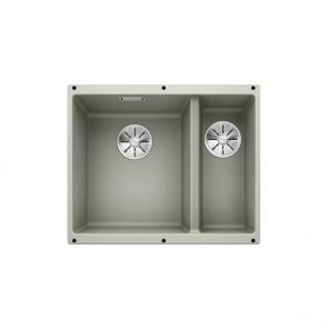 Blanco Subline 340/160-U sink left hand large bowl pearl grey