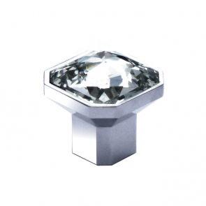 Tiffany Crystal / Chrome Knob 38mm