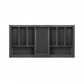 Cutlery Tray to suit 900mm Unit Soft Touch Black