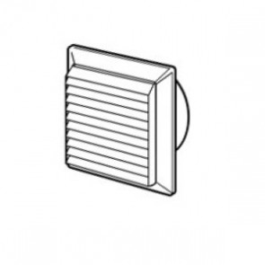 Domus Louvered Vent With Fly Screen 125mm Diameter White