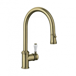 Blanco Vicus Single Lever Spray Brushed Brass