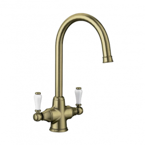 Blanco Vicus Twin Lever Tap Brushed Brass