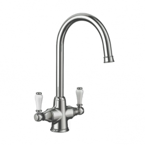Blanco Vicus Twin Lever Tap Pewter