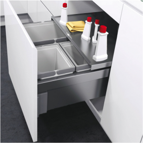 Vauth-Sagel Envi Space Pro Under Sink Triple Bin 600mm