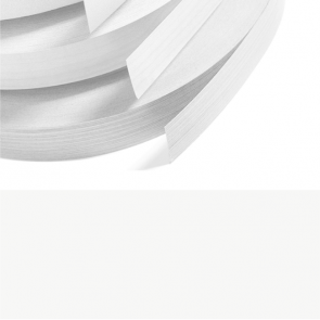 White Melamine Edging 22mm x 0.4mm x 50m Preglued