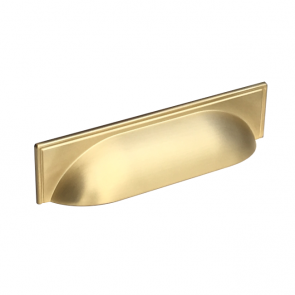 Windsor Cup Handle Brushed Brass 96mm