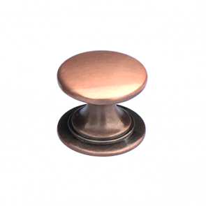 Windsor Round Knob Antique Copper 38mm