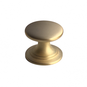 Windsor Round Knob Brushed Brass 38mm